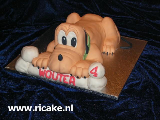 pluto taart Pluto, de bekendste hond 3 D taart (Pagina 1)   3D taarten  pluto taart